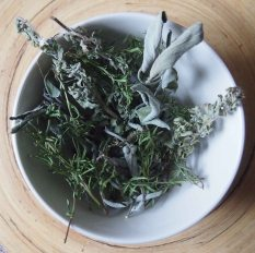 sage, rosemary, winter savoury and thyme