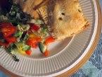 chilli veg and bean pasties+ salad