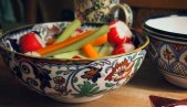 Celery carrot radish crudités