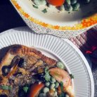 tarte provencale + broad bean and tomato balsamic salad