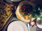 tarte provencale + tomato and broad bean salad