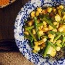 sautéed and steamed veg.
