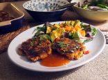 North African Bean Burgers + Papaya and Avocado Salad