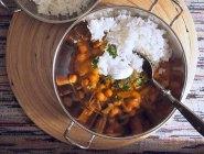 chickpea and mushroom curry