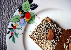 sfouf - decorated with sesame seeds and almonds
