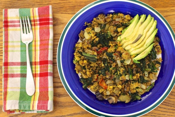 Besan Scramble High Protein Vegan Power Breakfast