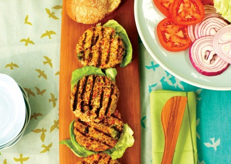 Mediterranean vegan burger recipe