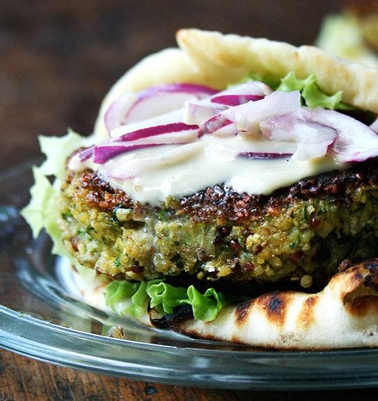 chickpean & quinoa vegan burger
