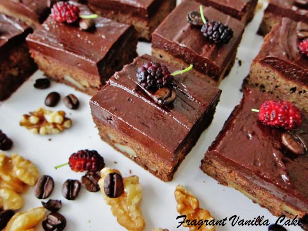 vegan Mocha-Walnut-Brownies