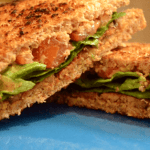 "Vegan Tempeh Bacon ""BLT"""