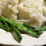 Rich & Creamy Vegan Mashed Potatoes with Roasted Green Beans