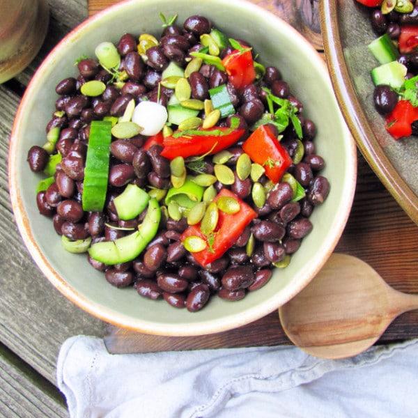 5 Minute Black Bean Salad