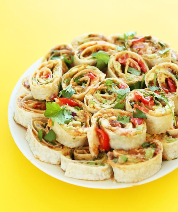vegan mexican pinwheels