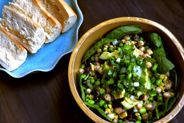 Black Bean Super Salad w/ Cilantro & Lime Vinaigrette
