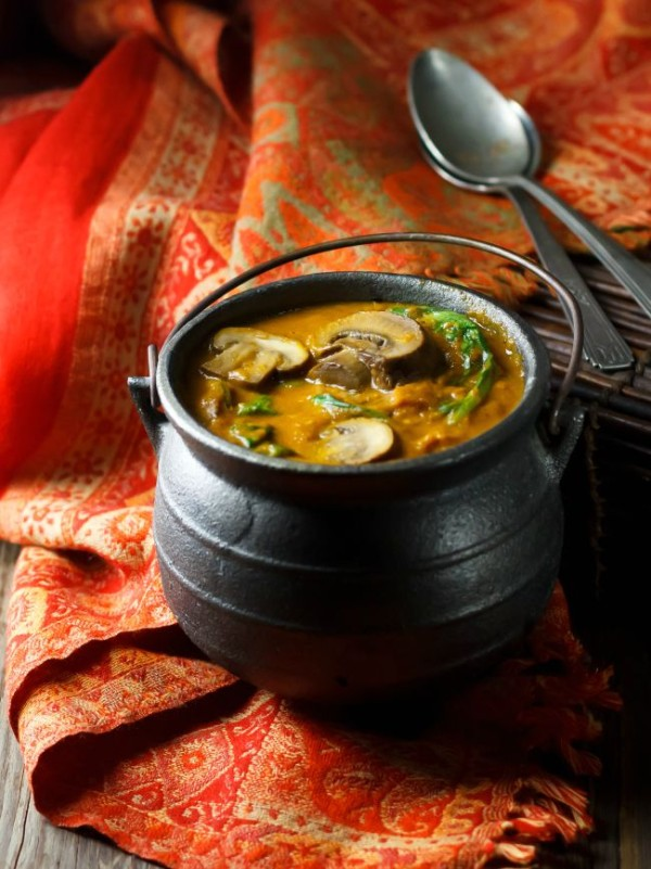 Hot and Hearty Mushroom Curry