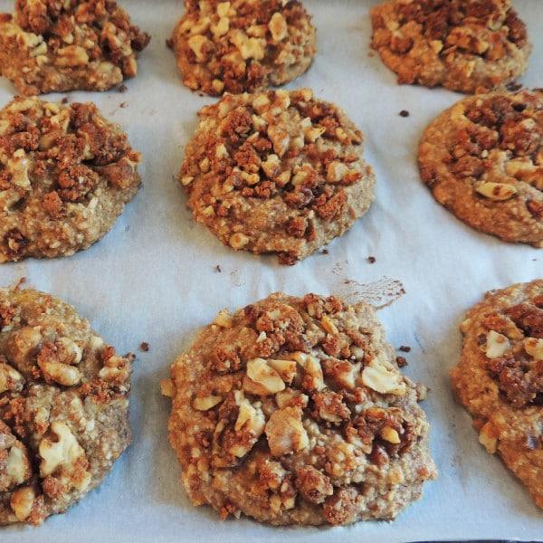 Moist Banana Nut Crunch Cookie Bites