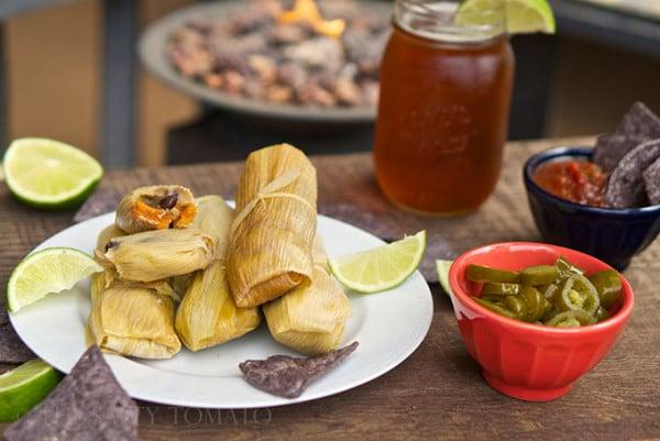 Tamales vegan sweet potato