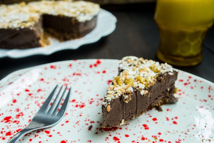 Chocolate & Cinnamon Vegan Ice Cream Cake