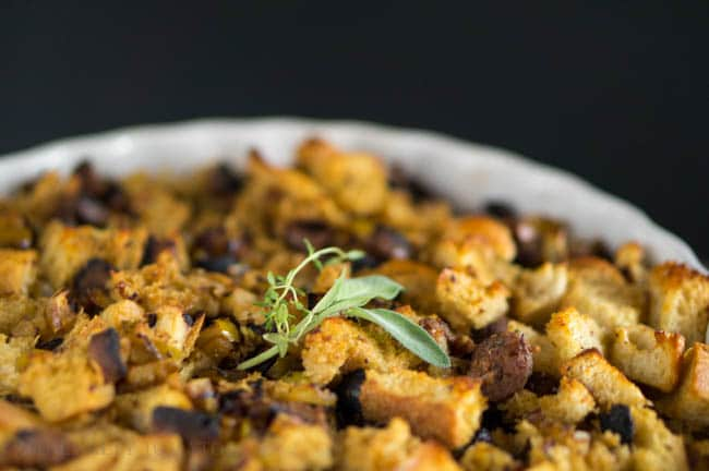 Sourdough and Vegan Sausage Stuffing