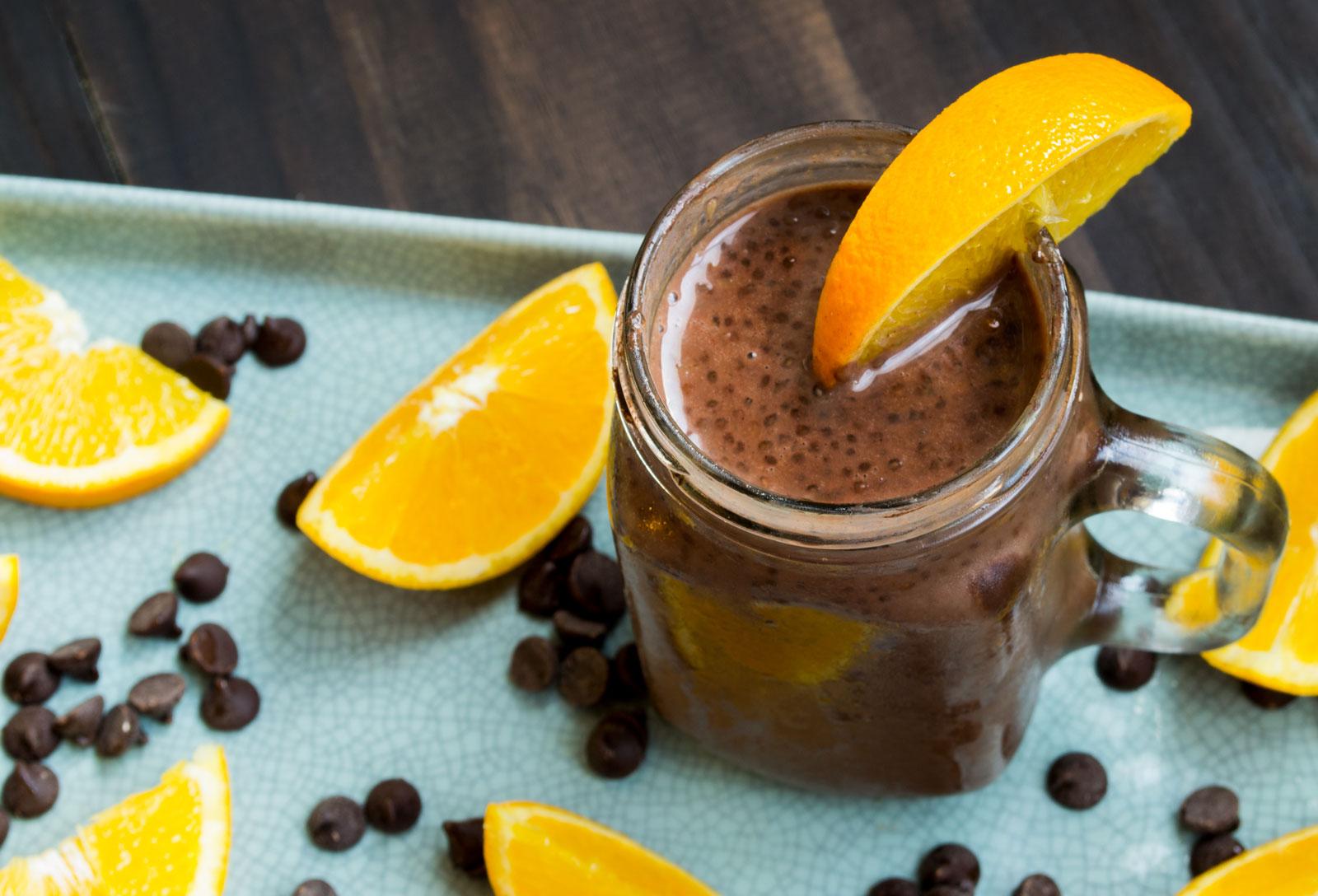 Orange Chocolate Chia Seed Pudding