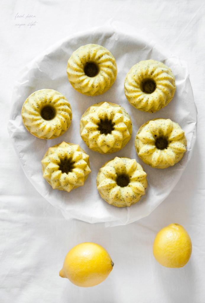 Lemon Poppy Seed Mini Bundt Cakes