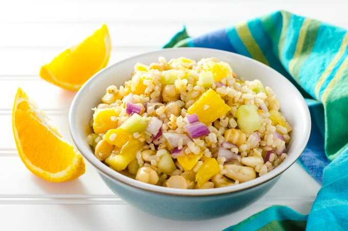 Brown Rice Citrus Salad