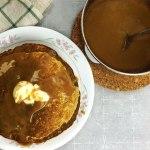 Oatmeal Pancakes w/ Espresso Glaze