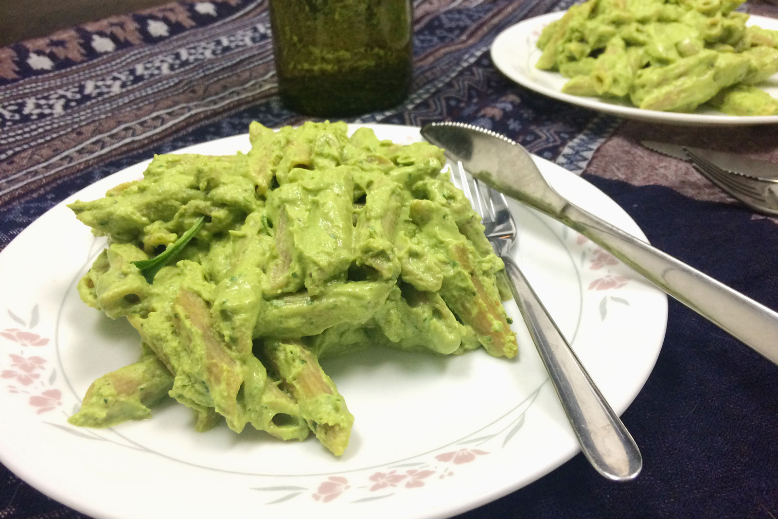 Spinach-Avocado Green Pasta