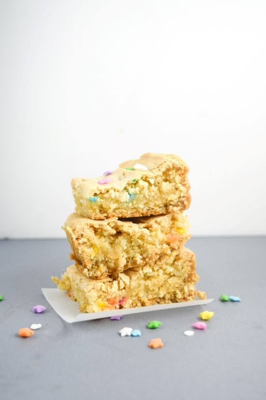 Vegan Cake Batter Blondies