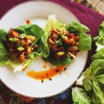 General Tso's Tofu Lettuce Wraps