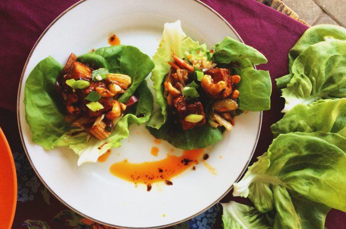 General Tso's Tofu Lettuce Wraps