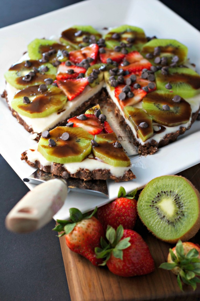 Chocolate Strawberry Kiwi Dessert