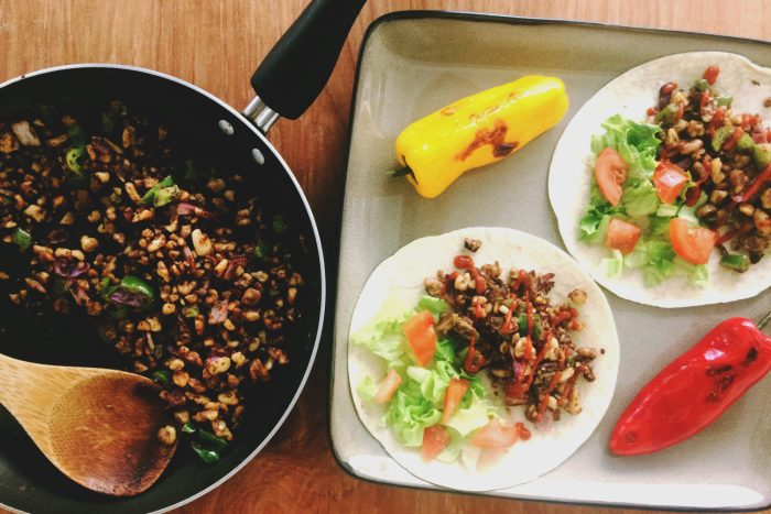 curry walnut meat tacos recipe