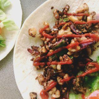 curry walnut meat tacos recipe