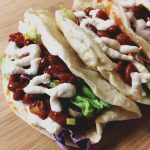 Spicy Red Bean Tacos with Zesty Cashew Cream Sauce