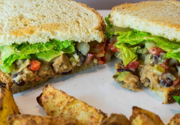 "Vegan ""Turkey"" Salad Sandwich"