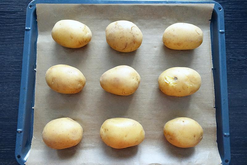 Crushed Kartoffeln mit Guacamole