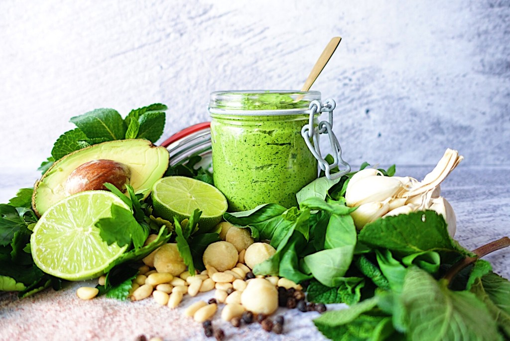 Avocado Macadamia Pesto Vegan