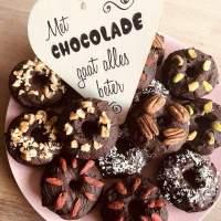 Chocolade Donuts met Aquafaba