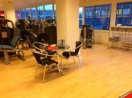 Tatsächlich! Im Fitness-Studio!