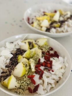 roh veganer porridge