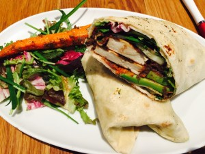 Tofu wrap with plenty of veggies