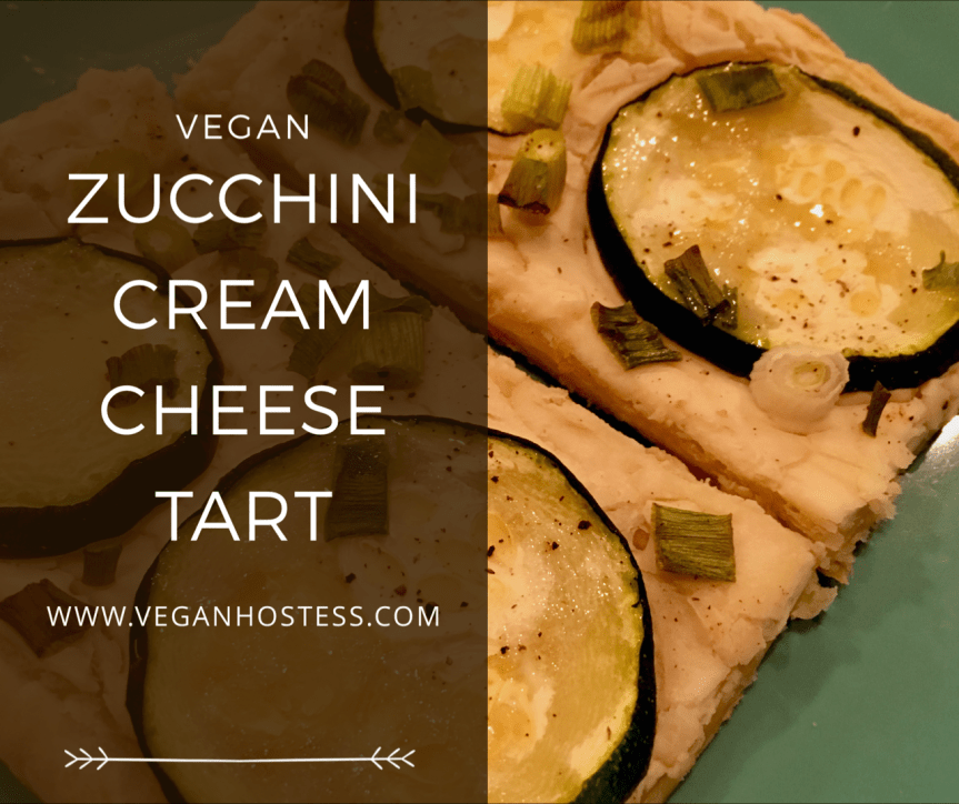 Vegan Zucchini Cream Cheese Tart