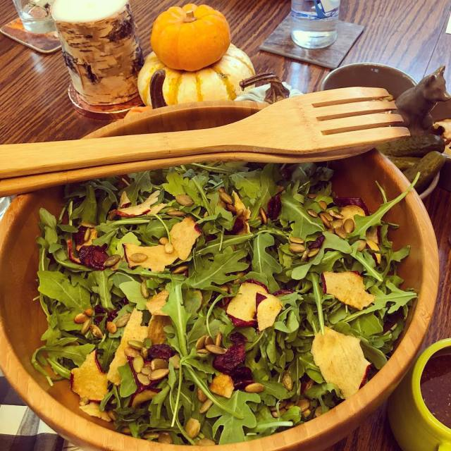 Full from Thanksgiving dinner? Try a fall themed salad Mixhellip
