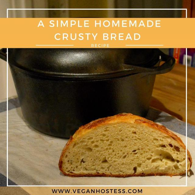 New recipe for Simple Homemade Crusty BreadLink in bio hellip