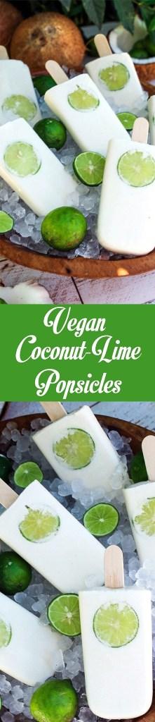 Vegan Coconut Lime Popsicles