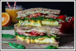 Start your morning off right with this Vegan Breakfast Sandwich. It's hearty, savory & oh-so satisfying!