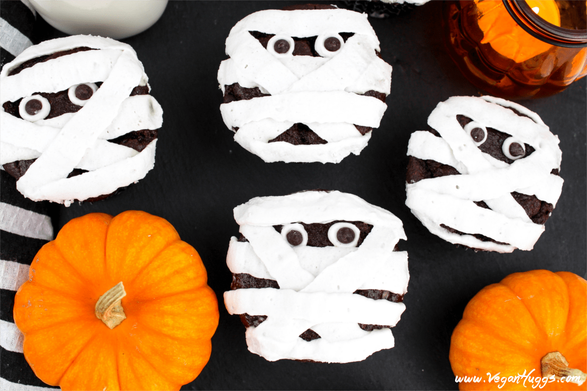 These vegan Mummy Cupcakes will be a hit at your next Halloween bash. They are kid-friendly & completely adorable. Also, they are gluten-free, chemical-free and delicious!