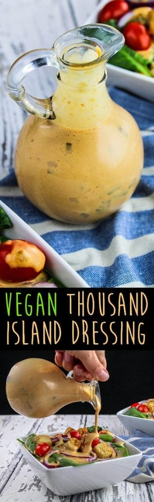 This veganThousand Island Oil-Free Dressing is creamy, flavorful and much healthier than store-bought varieties. Now you can have that classic dressing without all the unnecessaryingredients.