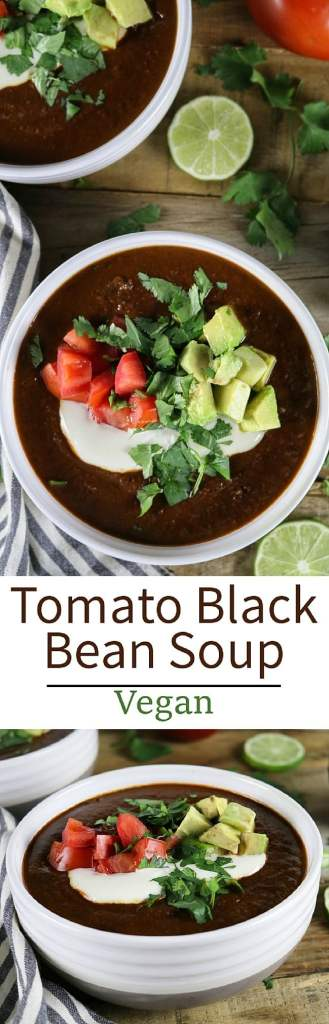 This Tomato Black Bean Soup is from Jason Wyrick's new book Vegan Mexico - it's hearty, healthy and bursting with authentic Mexican flavor!